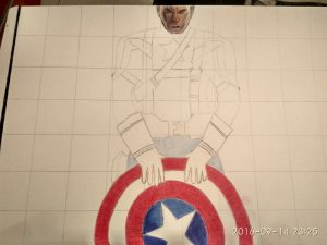 ballpoint drawing captain america 2