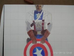ballpoint drawing captain america 3