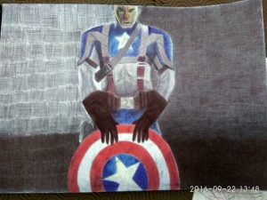 ballpoint drawing captain america 5