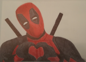 deadpool ballpoint art