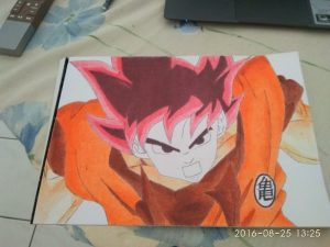 ballpoint drawing dragon ball 11