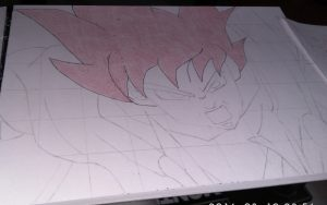 ballpoint drawing dragon ball 3