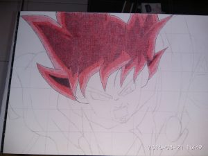 ballpoint drawing dragon ball 6