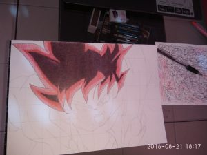 ballpoint drawing dragon ball 7