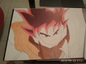 ballpoint drawing dragon ball 9