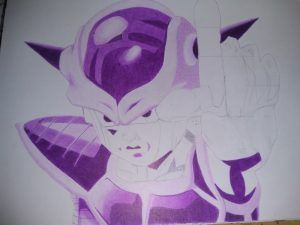 ballpoint drawing dragonball freezer 3