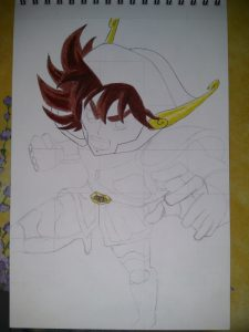 ballpoint drawing saint seiya 1