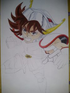 ballpoint drawing saint seiya 2