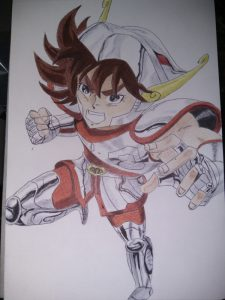 ballpoint drawing saint seiya 4