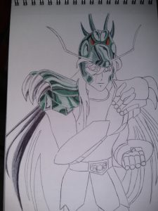 ballpoint drawing saint seiya shiryu 2