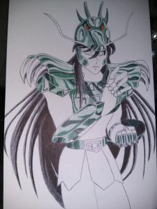 ballpoint drawing saint seiya shiryu 4