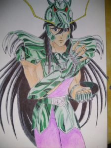 ballpoint drawing saint seiya shiryu 5