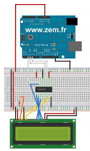 arduino lcd shift register 3wire