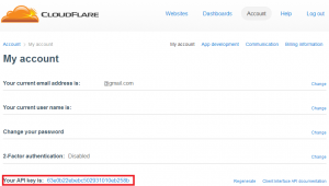 cloudflare api key