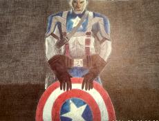 ballpoint-drawing-captain-america-marvel