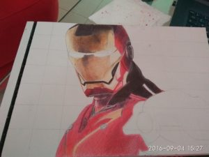 ballpoint drawing ironman 3
