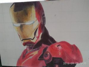 ballpoint drawing ironman 4