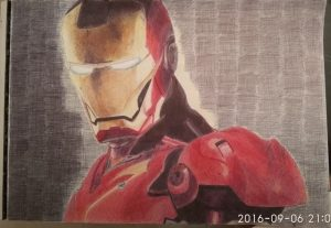 ballpoint drawing ironman 5