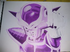 ballpoint drawing dragonball freezer 4