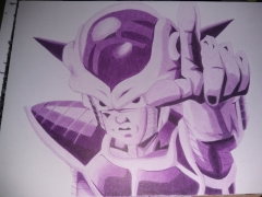 ballpoint drawing dragonball freezer