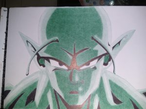 ballpoint drawing dragonball piccolo final