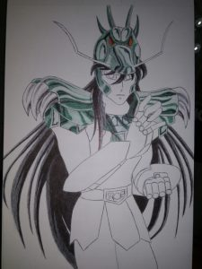 ballpoint drawing saint seiya shiryu 3
