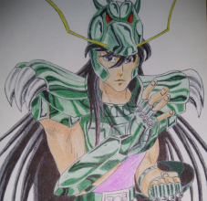 ballpoint drawing saint seiya shiryu